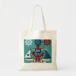 Nautical Hello Sailor Anchor Sail Boat Design Budget Tote Bag