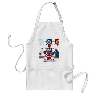 Nautical Hello Sailor Anchor Sail Boat Design Standard Apron