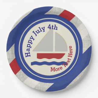 Nautical Independence Day Paper Plates