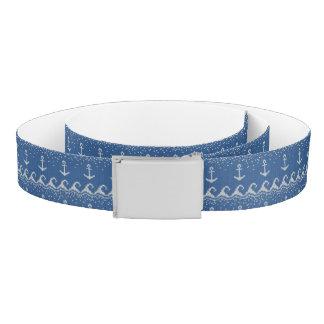 Nautical Knit Pattern Belt