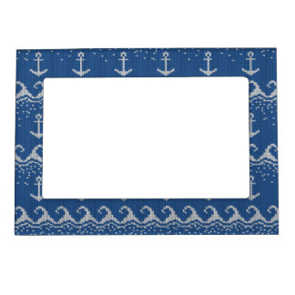 Nautical Knit Pattern Magnetic Picture Frame