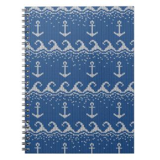 Nautical Knit Pattern Notebook