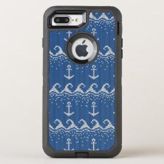 Nautical Knit Pattern OtterBox Defender iPhone 8 Plus/7 Plus Case