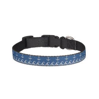 Nautical Knit Pattern Pet Collar