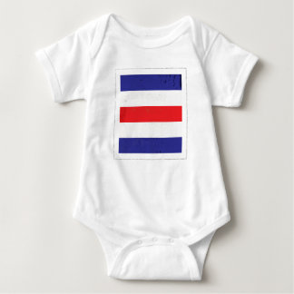 "Nautical Letter ""C"" Signal Flag Baby Bodysuit"