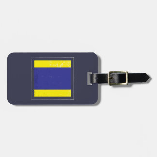 """Nautical Letter """"D"""" Signal Flag Luggage Tag"""
