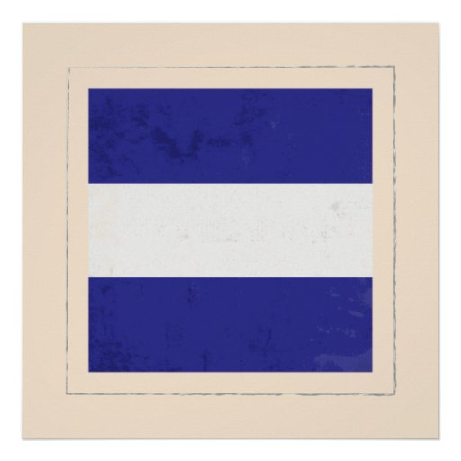 "Nautical Letter ""J"" Signal Flag Poster"