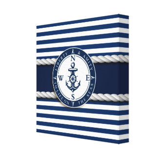 "Nautical - ""Liberty, Amity, Life, Seas"" Canvas Print"