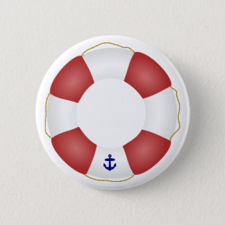 Nautical Life preserver 6 Cm Round Badge