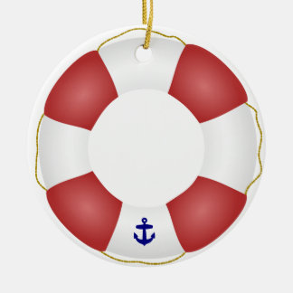 Nautical Life preserver Christmas Ornament