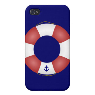 Nautical Life preserver Cover For iPhone 4