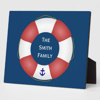 Nautical Life preserver Plaque