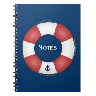 Nautical Life preserver Spiral Notebook