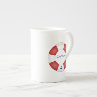 Nautical Life preserver Tea Cup