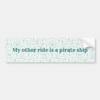 Nautical light green custom text bumper sticker