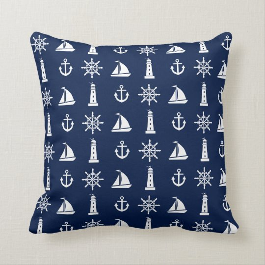 Nautical, Lighthouse, Anchor, Boat, Pillow