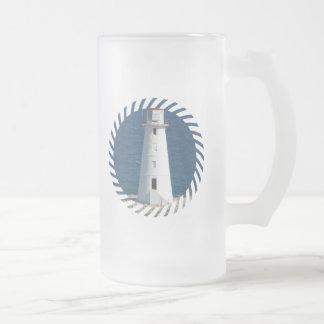 Nautical Lighthouse Frosted Beer Mug