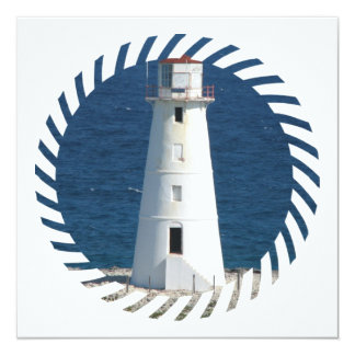 Nautical Lighthouse Invitation