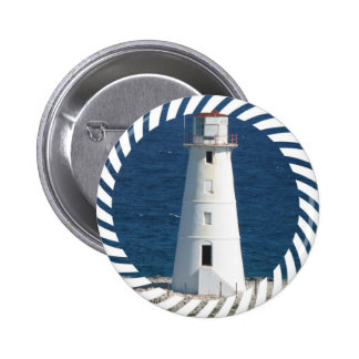 Nautical Lighthouse Round Button