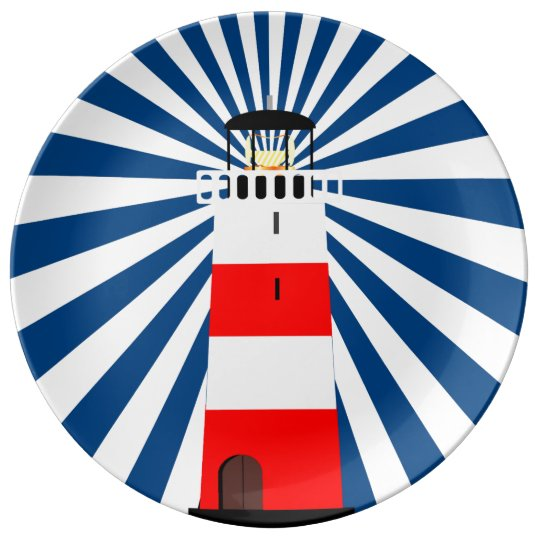 Nautical Lighthouse with Beams Plate