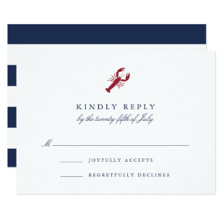 Nautical Lobster RSVP Card