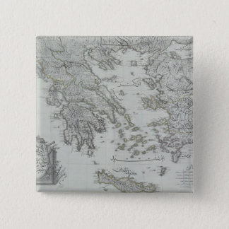 Nautical Map 15 Cm Square Badge