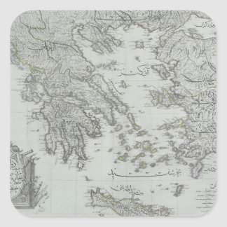 Nautical Map Square Sticker