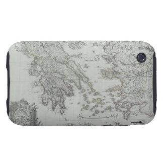 Nautical Map Tough iPhone 3 Cover