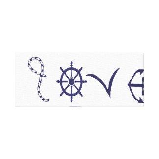 Nautical, marine love canvas print