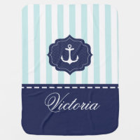Nautical Anchor Baby Blankets