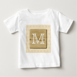 Nautical Monogram Design, with Picture of Wood. Baby T-Shirt