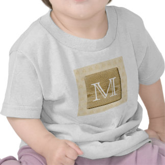 Nautical Monogram Design with Picture of Wood T-shirt