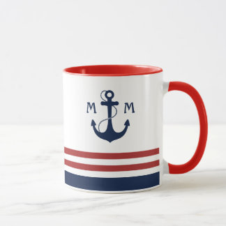 Nautical Monogram Mug