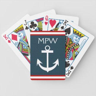 Nautical Monogram - Playing Cards - SRF