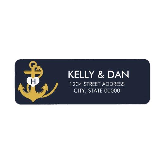 Nautical Monogram Return Address Labels