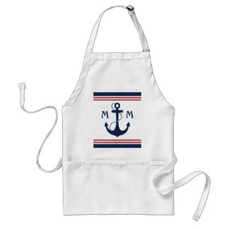 Nautical Monogram Standard Apron