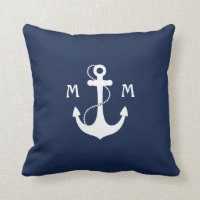 Nautical Monogram Cushion