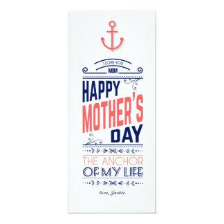Nautical Mother's Day Card 10 Cm X 24 Cm Invitation Card
