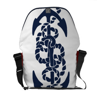 Nautical Navy Anchor Pattern Commuter Bags