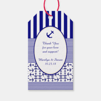 Nautical Navy and White Anchor Gift Tags