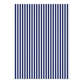 Nautical Navy and White Cabana Stripes 14 Cm X 19 Cm Invitation Card