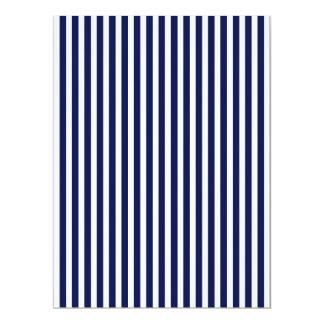 Nautical Navy and White Cabana Stripes 17 Cm X 22 Cm Invitation Card