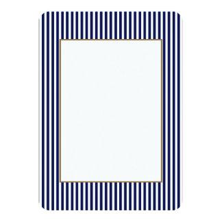 Nautical Navy and White Cabana Stripes 11 Cm X 16 Cm Invitation Card