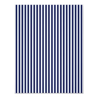 Nautical Navy and White Cabana Stripes 11 Cm X 14 Cm Invitation Card