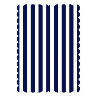 Nautical Navy and White Cabana Stripes 13 Cm X 18 Cm Invitation Card