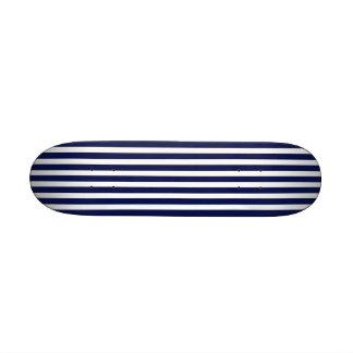 Nautical Navy and White Cabana Stripes Skate Board