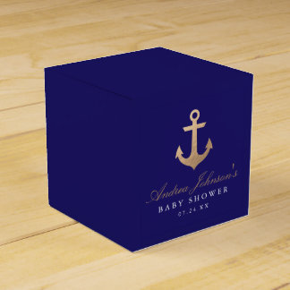 Nautical Navy Baby Shower Favor Boxes Favour Boxes