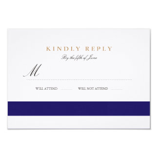 Nautical Navy Bat Mitzvah RSVP Card