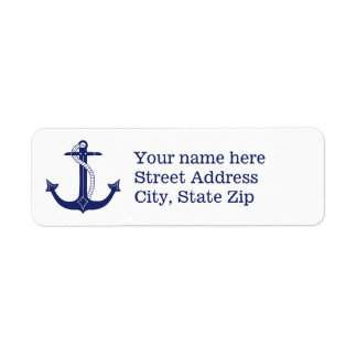 Nautical Navy Blue Anchor