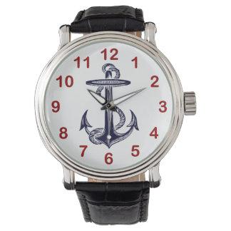Nautical Navy Blue Anchor Wristwatch